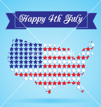 Free 4th of july card vector - Free vector #234355