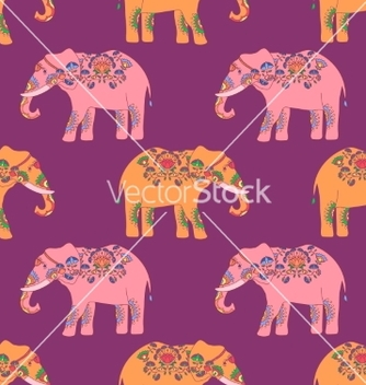 Free indian elephant with beautiful pattern vector - Free vector #234445