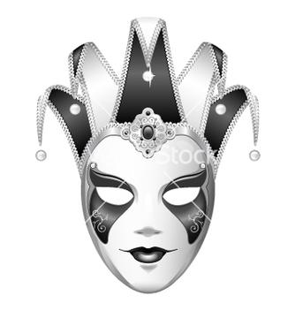 Free black and white joker mask vector - Free vector #234495