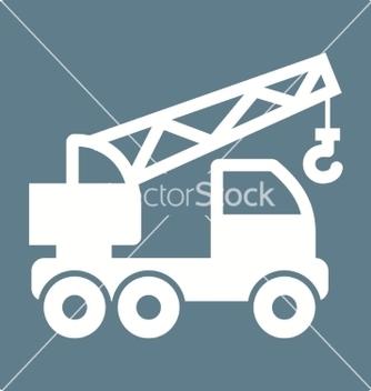 Free crane truck vector - vector #234515 gratis