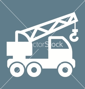 Free crane truck vector - бесплатный vector #234515