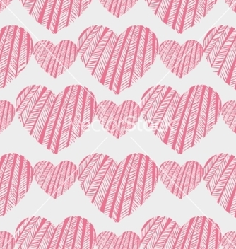 Free hearts seamless pattern vector - Free vector #234545