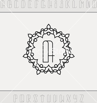 Free set from the monogram and a font vector - Free vector #234885