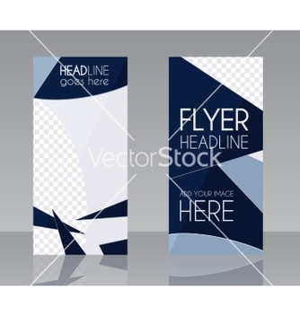 Free brochure flyer design layout template blue vector - vector gratuit #234905