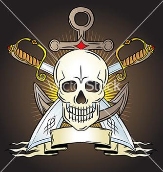 Free artistic skull design emblem vector - Kostenloses vector #235065