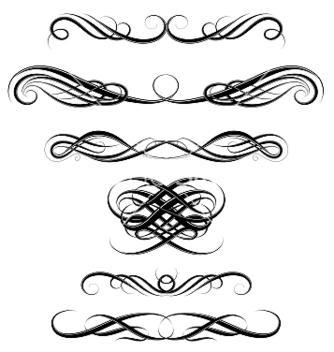 Free elegant vintage borders vector - Free vector #235395