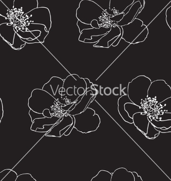 Free seamless pattern with wild roses vector - Free vector #235545