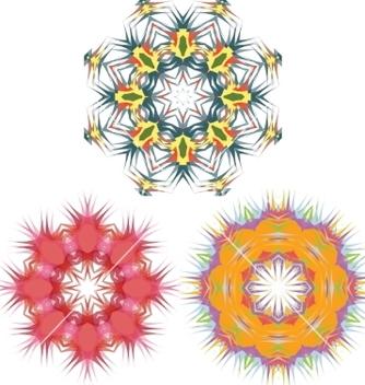 Free mandala round pattern set vector - Free vector #235885