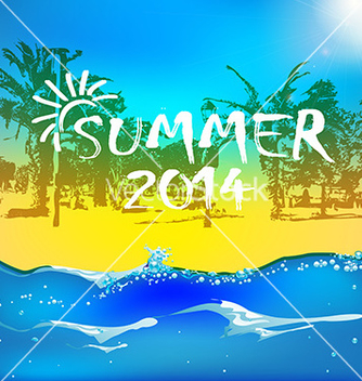 Free summer time background vector - Free vector #235905