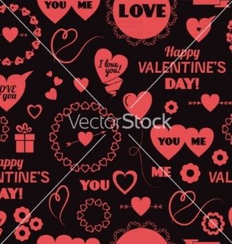 Free seamless background happy valentines day vector - Free vector #235975
