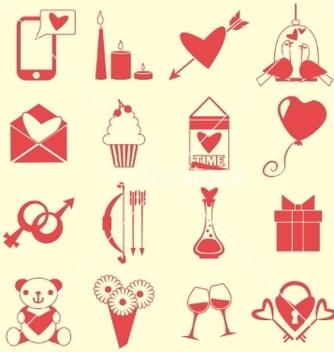 Free love symbols set vector - Free vector #236135