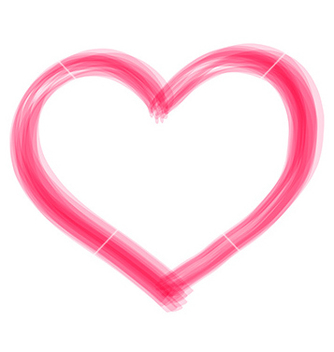 Free transparent brush heart vector - Free vector #236205