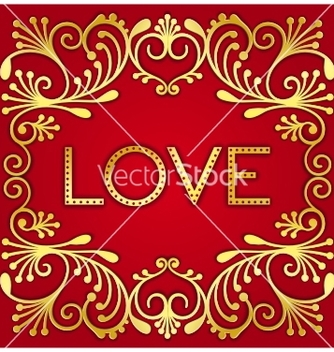 Free gold lettering word love vector - бесплатный vector #236215