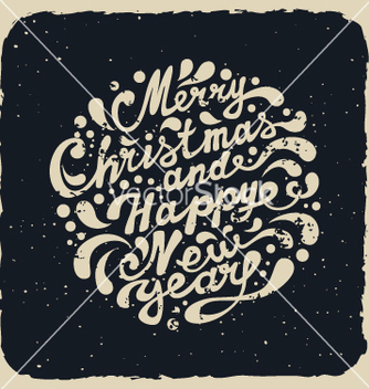 Free merry christmas and happy new year vector - бесплатный vector #236355