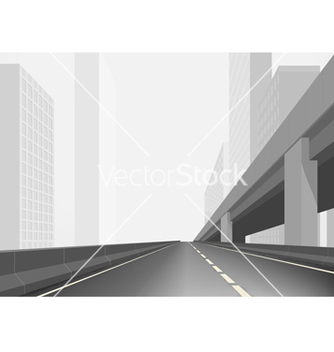 Free road in a town vector - vector #236375 gratis