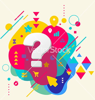 Free question mark on abstract colorful spotted vector - бесплатный vector #236445