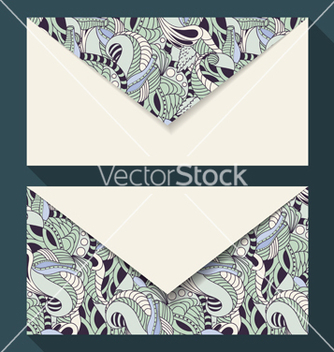 Free hand drawn floral business card set vector - Free vector #236465