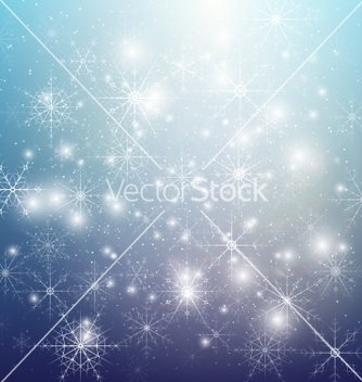 Free winter background with snowflakes abstract winter vector - Free vector #236485