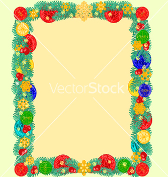 Free frame from christmas tree branches of spruce vector - Free vector #236515