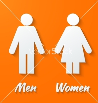 Free signs male female wc vector - бесплатный vector #236635