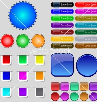 Free big set of different colored buttons trendy modern vector - Free vector #236655