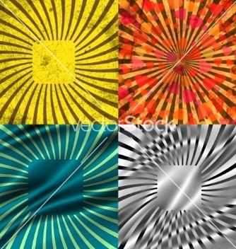 Free set vintage colored rays background eps10 vector - Free vector #236745