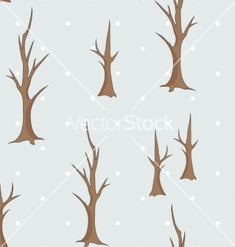 Free bare winter trees seamless pattern vector - Free vector #236805