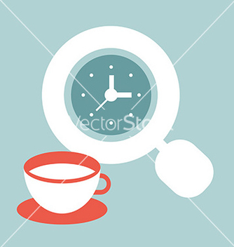 Free time for coffee vector - vector #236995 gratis