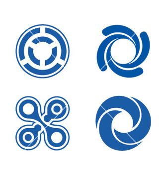 Free circle element logos theme vector - Free vector #237025