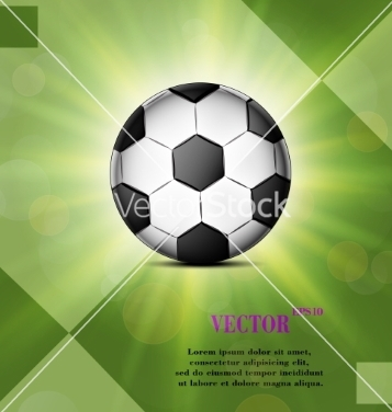 Free soccer ball web icon on a flat geometric abstract vector - Free vector #237115