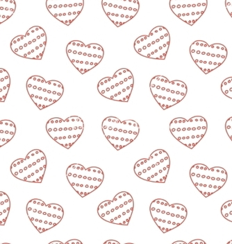 Free hand drawn doodle seamless pattern of hearts vector - Free vector #237215