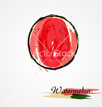 Free watermelon fruit slice vector - Free vector #237325