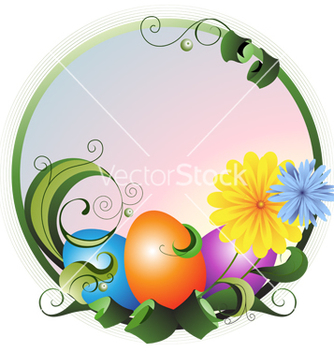 Free easter greeting card vector - Kostenloses vector #237435