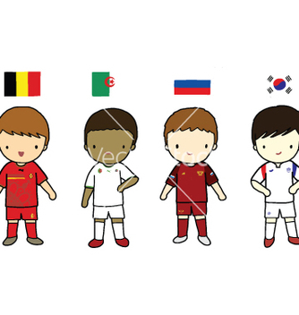 Free fifa 2014 football players group h vector - vector gratuit #237505