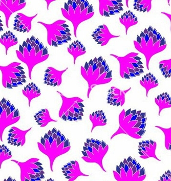 Free seamless pattern with bright flowers vector - Free vector #237695