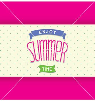 Free abstract summer card template vector - vector gratuit #237725