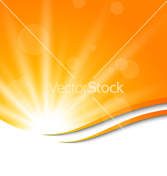 Free abstract orange background with sun light rays vector - Free vector #237765