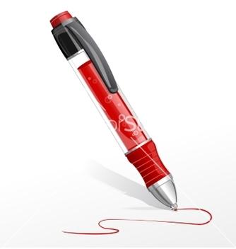 Free red pen vector - Kostenloses vector #237815