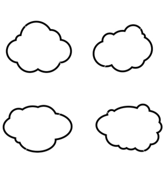 Free set of clouds icons vector - Kostenloses vector #237965