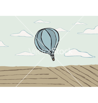 Free hot air balloon vector - vector gratuit #238025