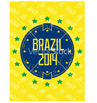 Free round grunge label brazil 2014 vector - Free vector #238045