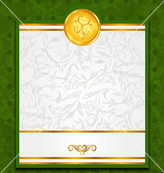 Free celebration card with coin for st patricks day vector - Kostenloses vector #238225
