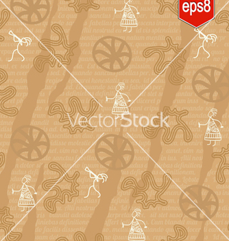 Free seamless pattern in ethnic style vector - Free vector #238265