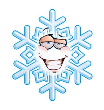 Free snowflake emoticon smug vector - Free vector #238305
