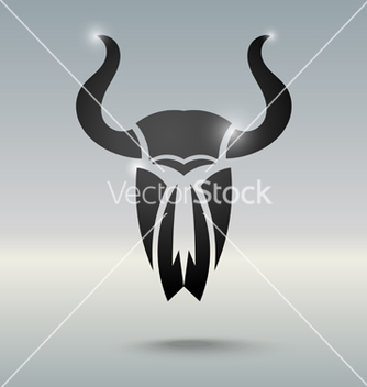 Free tattoo stylized skull of a bull vector - Free vector #238345