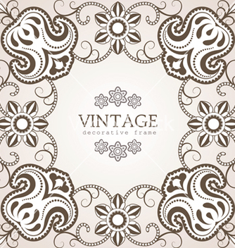 Free floral ornamental frame vector - Free vector #238445