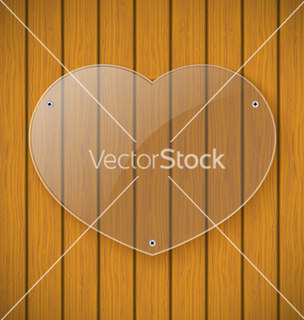 Free glass plate on the background of wooden wall vector - vector #238555 gratis