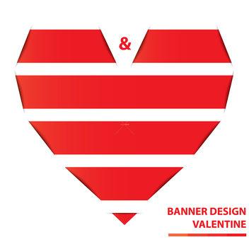 Free valentine banner design vector - Kostenloses vector #238635