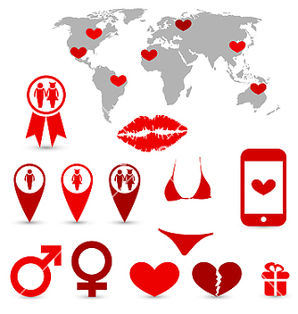Free valentines day infographics and design elements vector - Free vector #238745