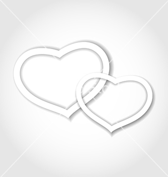 Free paper hearts for valentine day for design card vector - vector gratuit #238965